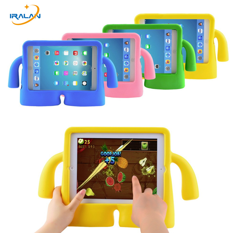 Kids Cute Cartoon EVA Cover For Apple iPad 7.9 inch Case Children Safe Silicon for iPad mini 2 3 4 mini3 Protective Cases+stylus for ipad mini 3 2 1 kids fun 3d mini cartoon car childproof silicone protective case blue