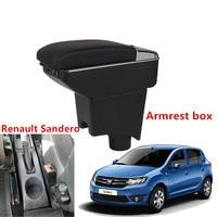 Renault Sandero Armrest Box Sandero1 2 범용 자동차 중앙 팔걸이 보관함 컵 홀더 재떨이 수정 액세서리|팔걸이|   -