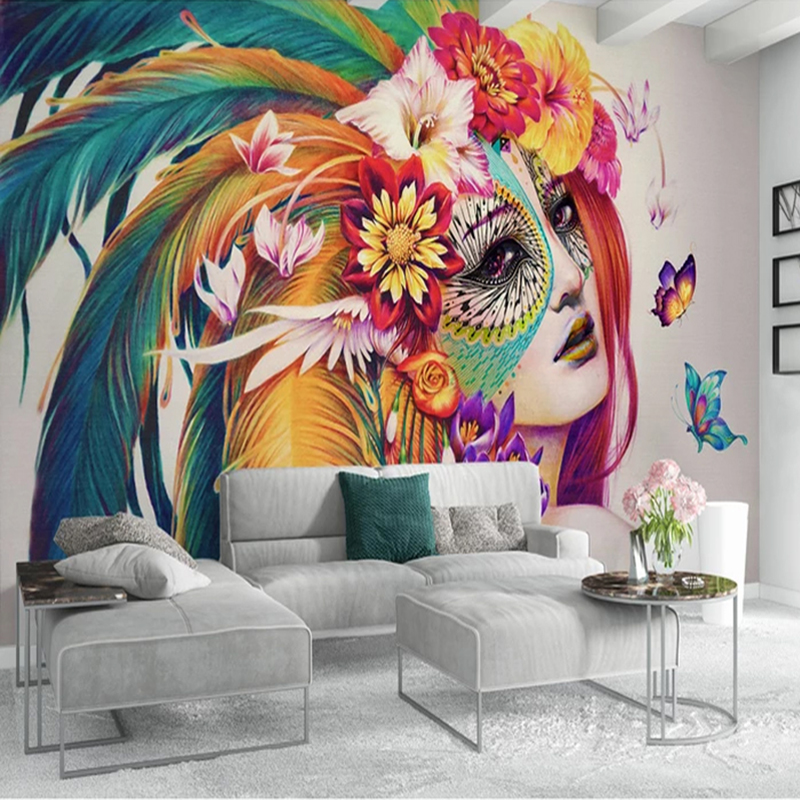 Custom 3D Photo Wallpaper Creative Hand Painted Colorful Butterfly Beauty Art Wall Painting Living Room Bedroom Study Room Decor