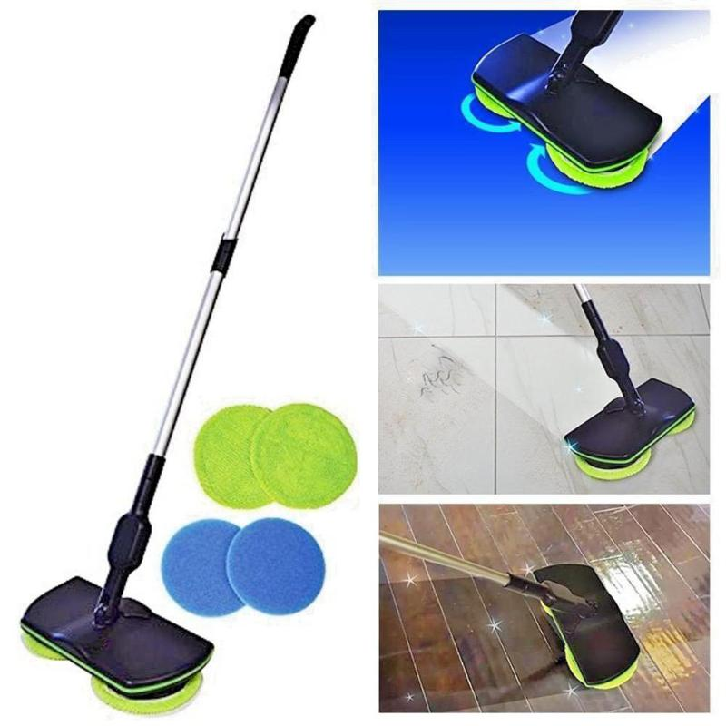 Alloet Electric Mop Chargeable Home Cleaner Cordless Sweeper Sweeping Machine Hand Push Sweeper Floor Mops for Home Cleaning