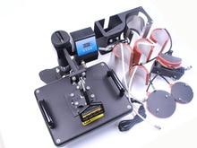Бесплатная доставка Wtsfwf 30*38 СМ 8 в 1 Комбо Тепла Пресс Машина Принтер Термотрансферный Принтер для Кружка пластины Футболки Печать