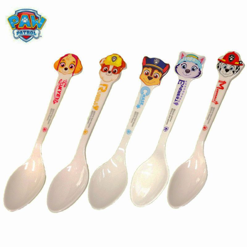Genuine 2019 PAW Patrol Cute Children's Milk Spoon Figure Marshall Chase Everest Puppy Print Party Kids Birthday Children Gift