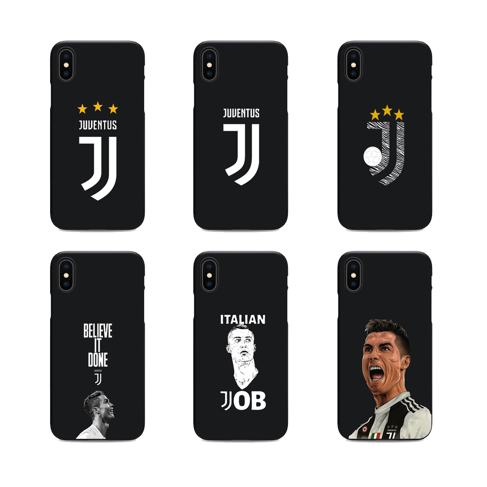 online store ab9db 5a68d Soft Silicone Black Cover Cristiano Ronaldo Juventus Jersey CR7
