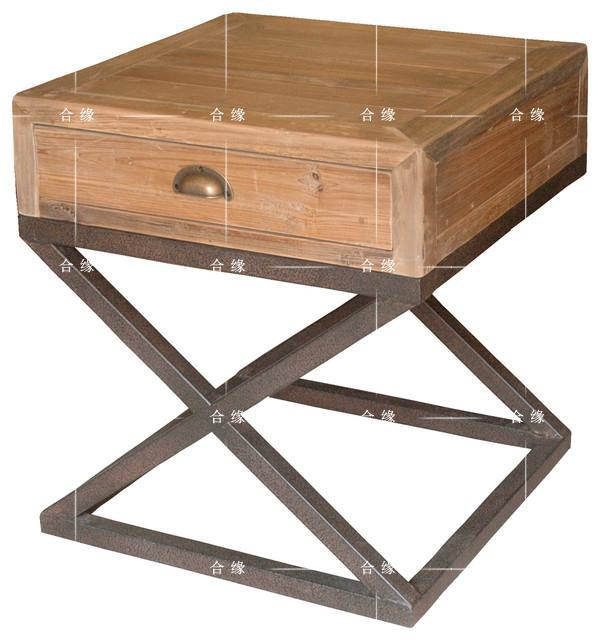 Rollins Industrial Loft Bronze Iron Coffee Table: LOFT American Country To Do The Old Industrial Style