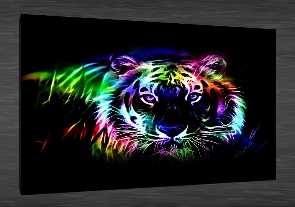 Image Gallery neon abstract wall art
