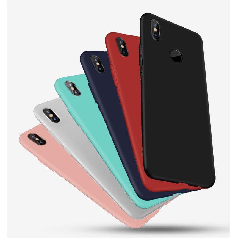 Matte Candy Solid Color Case Xiaomi Redmi Note 7 4X 4A 5A S2 Prime Redmi GO 6 6A Note 6 Pro Mi A1 A2 Lite Silicon TPU Soft Case