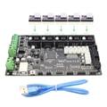 4 camadas do PWB placa controladora MKS Gen mainboard integrado V1.4 compatível Ramps1.4/Mega2560 R3 com 5 pcs DRV8825 e cabo usb