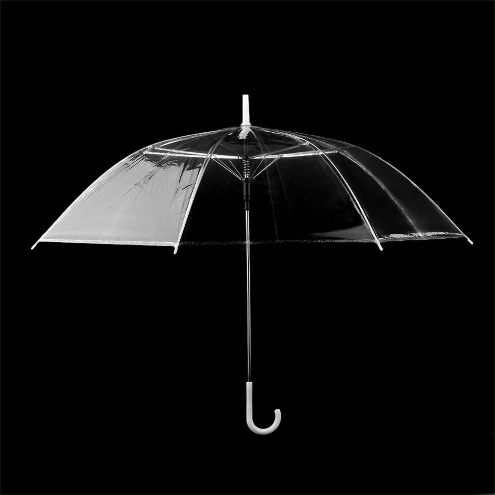 1 PC Fashion Transparent Clear Automatic Umbrella Parasol For Wedding Party Favor P6