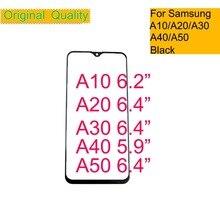 10 шт./лот для samsung Galaxy A10 A20 A30 A40 A50 Сенсорный экран Передний сенсорный экран со стеклянной панелью ЖК-дисплей внешний Дисплей объектив A30 A50 A40