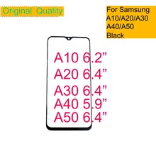 10Pcs/lot For Samsung Galaxy A10 A20 A30 A40 A50 Touch Screen Front Glass Panel TouchScreen LCD Outer Display Lens A30 A50 A40 стоимость
