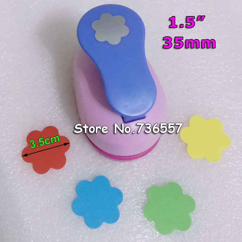 35mm Embossing Device Flowers Paper Cutter Crafts Scrapbook Kid Child Craft Tool Diy Hole Punches Cortador De Papel S2934-6