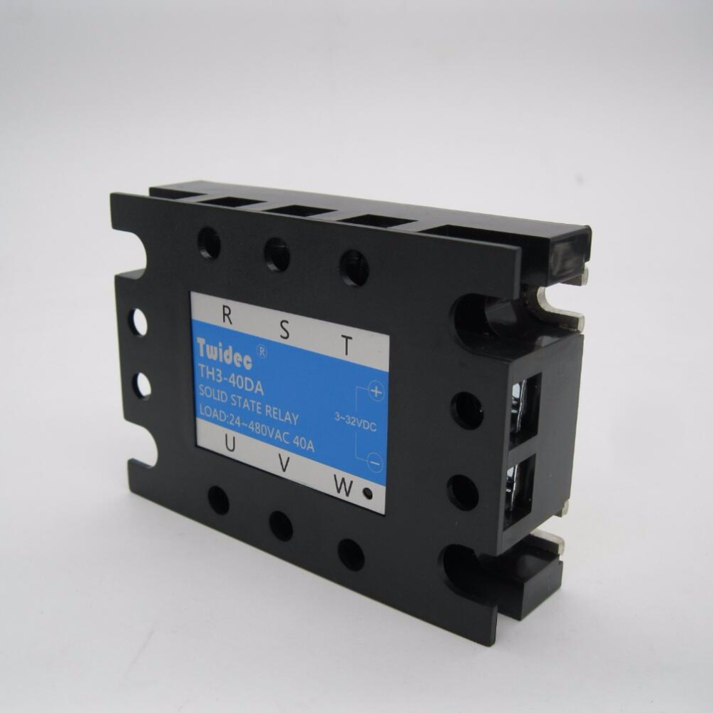Twidec Three Phase Solid State Relay Ssr 40da Switch 40a Dc To Ac Input 3 32vdc Load 24 480vac In Relays From Home Improvement On
