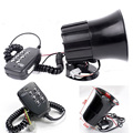 12V Vehicle Truck SUV ATV Auto Car Motorcycle Alarm Warning Siren Horn Megaphone 6 Sound Tone Security Loud Speaker With MIC