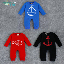 2016 Spring models Romper Baby SeaWorld Baby climbing clothing Infant Out clothes leotard Rompers