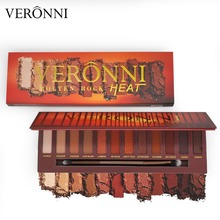 VERONNI Brand Hot Sale Molten Rock Heat Eye Shadow Makeup Palette Nude Shimmer Matte Smoky Eyeshadow Red Brown Pumpkin Cosmetics