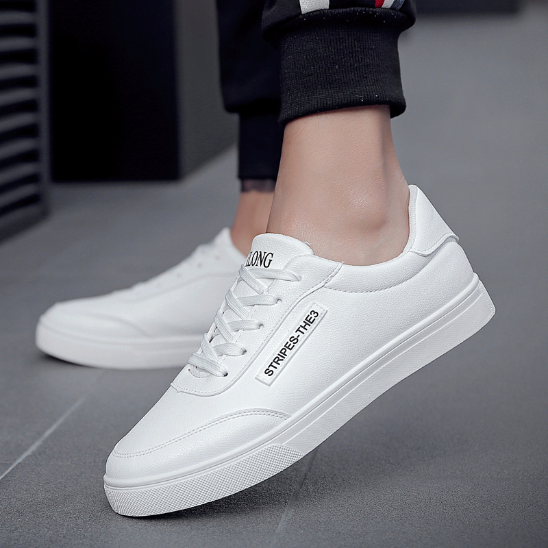 2018 New White Fashion Shoes Men Casual Lace-up Shoes tenis masculino adulto Comfortable Male Walking Shoes 3