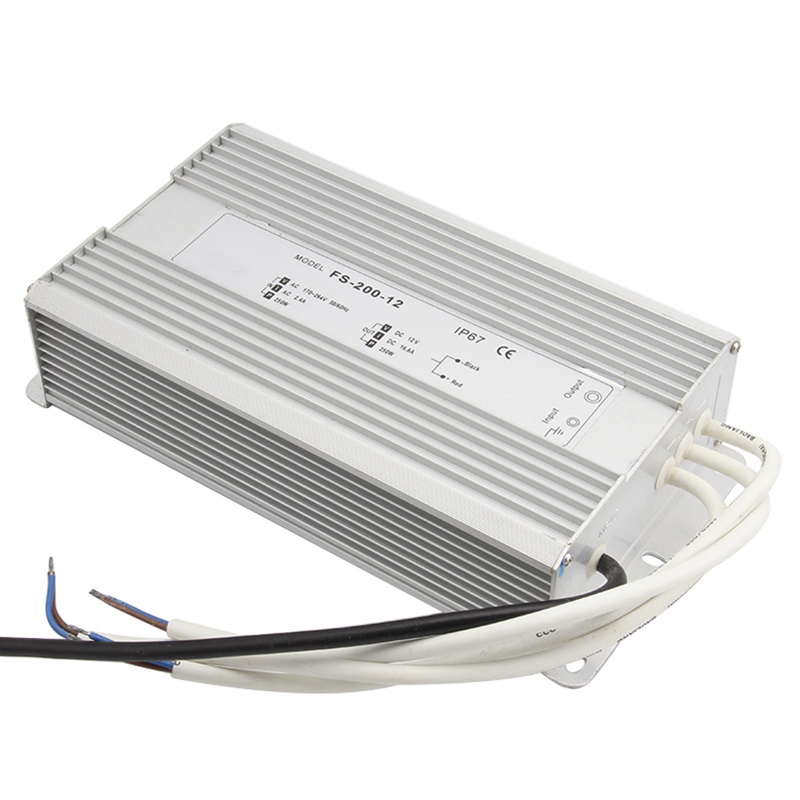 AC 170-260V To DC 12V-48V 200W Led Driver Transformer Waterproof Switching Power Supply Adapter,IP67 Waterproof Outdoor Strip