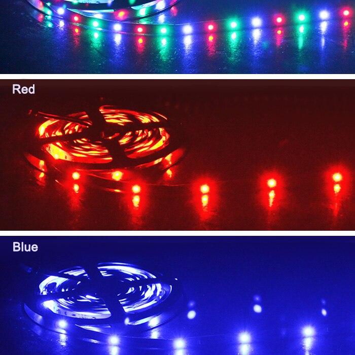 cores mudar com controle remoto ir, adaptador de energia 2a dc12v