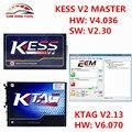 2017 Melhor Jogo V2.30 + V2.13 Mestre KTAG K-TAG KESS V2 V6.070 Gerente OBDII Sintonia Kit Sem Tokens Limitada ECU Chip Programador