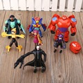 Lot of 8pcs Big Hero 6 Figure Toy Hiro, Baymax, Fred Lemon Marvel Baby Kids Xmas