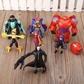Lote de 8 unids grande figura de juguete hero 6 hiro, Baymax, fred lemon marvel bebé kids navidad