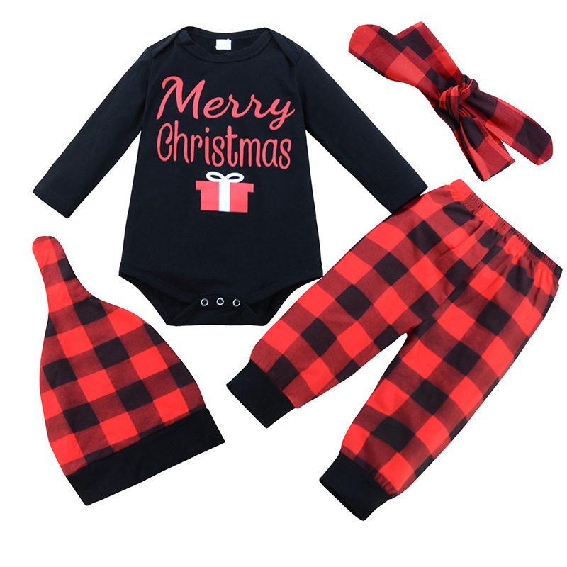 8f121fb16b03 Newborn My First Christmas Baby Boy Girls Print Tops Romper Clothes Sets  Bodysuits Party Clothing Wear 3PCS Snow Outfit Set on Aliexpress.com