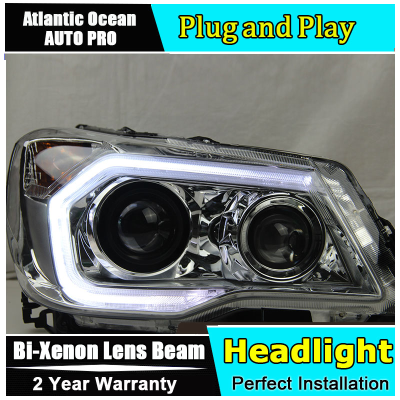 Car Styling LED Head Lamp For Forester headlights 2013-2015 LED Headlight angel eyes led drl HID KIT Bi-Xenon Lens headlamp polishing paste kit diy headlight restoration for car head lamp lense deep clean compuesto pulidor uv protective liquid