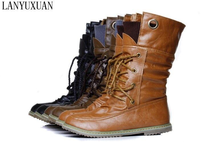 2017 New Botas Mujer Boots Big Size 34-51 Shoes Woman Fashion Martin Outono Inverno Botas De Couro Boots Femininas Women A702