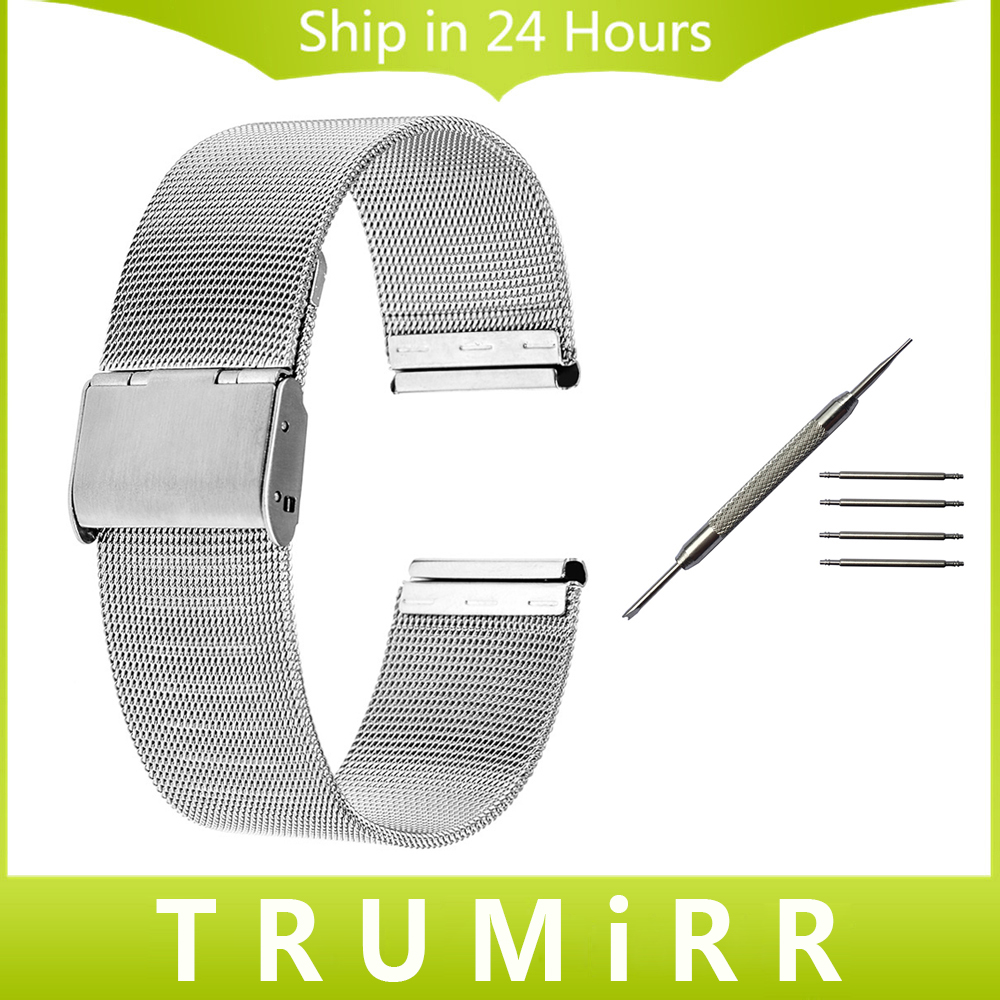 18mm 20mm Milanese Watchband for DW (Daniel Wellington) Men Women Watch Band Stainless Steel Strap Bracelet with Tool Spring Bar туалетная вода fleur de france туалетная вода fleur de france dеsirе 90 ml ж
