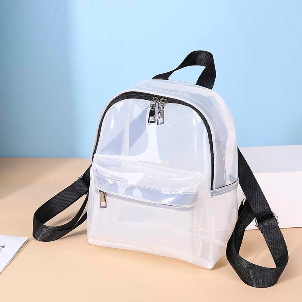 Transparent Backpack Waterproof Book Female Fashion College Students Transparent Backpack Bags For Women 2019 Mochila Mujer