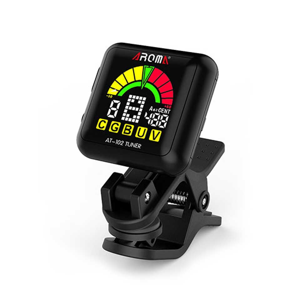 AROMA AMT-100 tuner and metronome Chromotic,guitar,bass,violin,ukulele and so on