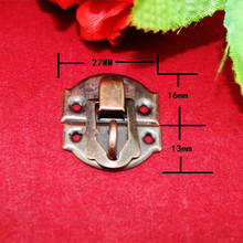 Bronze Vintage Iron Jewelry Box Padlock Hasp Locked Wooden Wine Gift Box Handbag Buckle Hardware Accessories,27*29mm,4Pcs