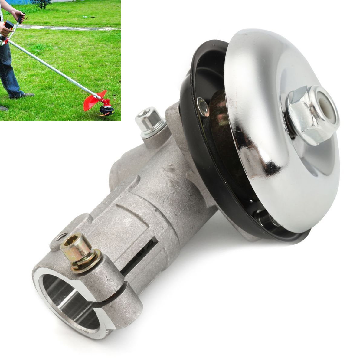Mayitr 26mm 7 Tooth Splin Gearhead Gearbox for Trimmer Strimmer Brush Cutter Lawnmower Garden Tools durable 26mm gearhead gearbox brush cutter trimmer replace parts lawn mower spares mayitr garden tools