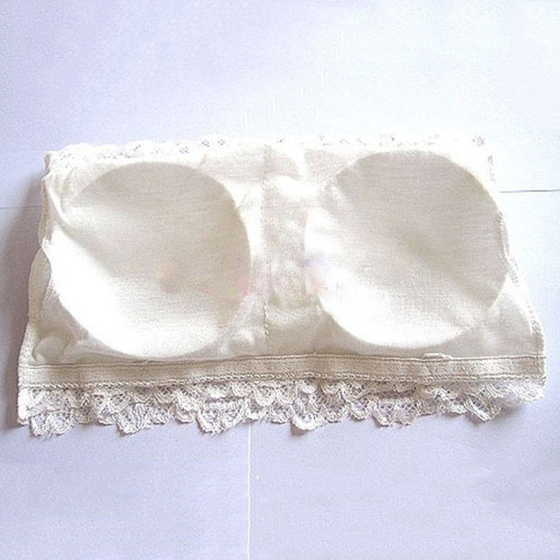 SIMPVALE Preventing Wardrobe Malfunction Sexy Lace Embroidery patterns Women Tube Tops White Black Pink