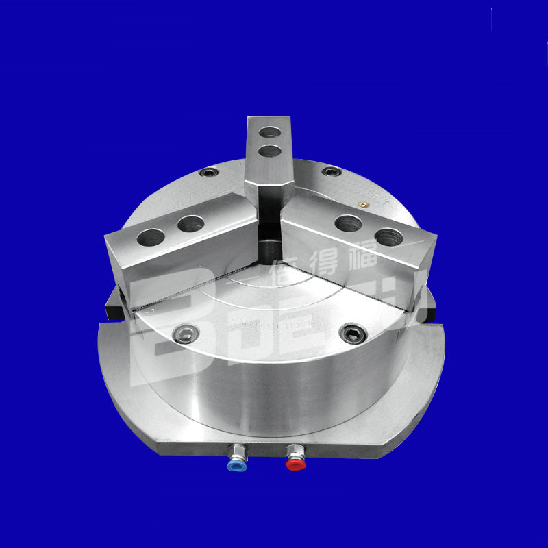 0.4 0.8Mpa 3 115mm KL110TL 3 vertical automatic steel pneumatic/hydraulic 3 claw chuck,lathe machining parts, mechanical fixture