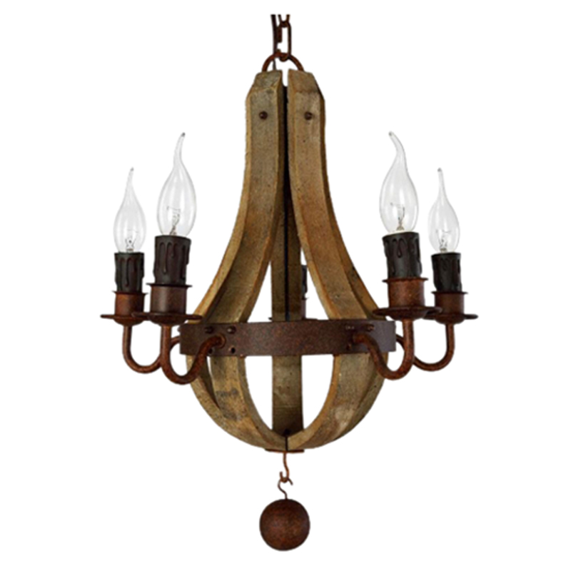 Wooden Retro 5 heads E14 lampholders Pendant-Lamp пуф wooden круглый белый