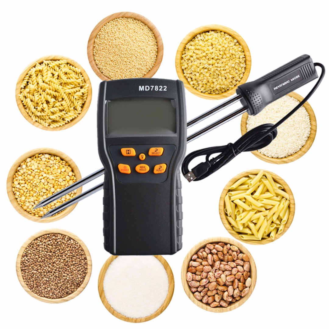 New Digital LCD Display Grain Moisture Temperature Meter Tester Wheat Paddy Rice Gauge 138x70x35mm digital grain moisture meter tester for wheat maize soya beans paddy rice barley tk100g