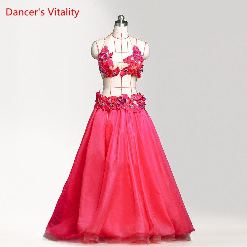 Руководство пользовательские роскошные качество танец живота Костюмы Для женщин/Обувь для девочек танец живота на сцене/конкуренции одежд
