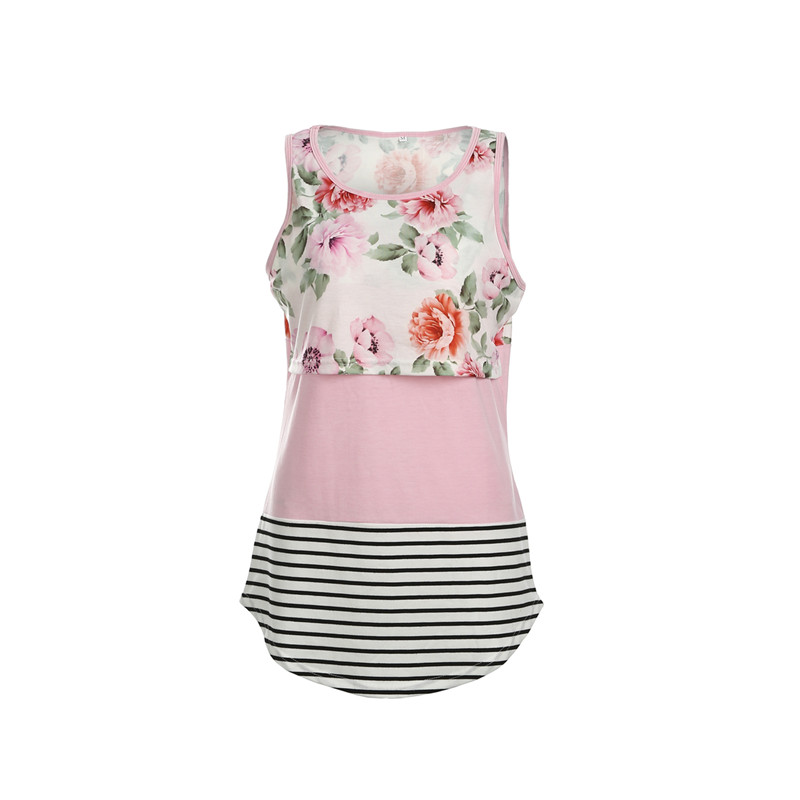 Women maternity clothes maternity dresses Pregnant Maternity Floral TShirt Nursing Tops Breastfeeding Cotton Flower Vest maternity vest top pregnant women wireless cami nursing tank top maternity camisole breastfeeding vest nursing tank top
