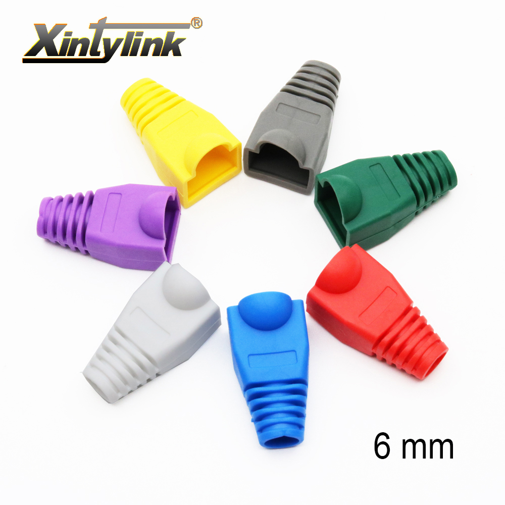 Xintylink rj45 tampas conector capa cat5 cat5e cat6 rede botas lan ethernet cabo rg rj 45 bainha gato 6 lan multicor