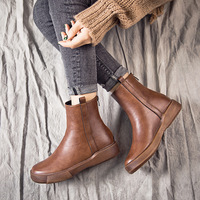 Spring/autumn ankle women casual shoes breathable boots women leather shoes women