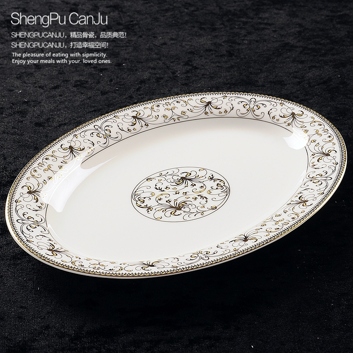 12 inch bone china fish plate gold butterfly banding oval dinner plates for dinner serving tableware plates \u0026 dishes | Aliexpress Mobile & Online Shop Sale! 12 inch bone china fish plate gold butterfly ...