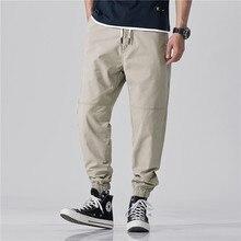 Dei jeans degli uomini di Chao Marca Allentato-legged Casual Pantaloni di Grandi Dimensioni Straight-barile Hip-Hop Strumenti di Alta-end qualità Nove pantaloni
