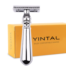 Razor Copper Alloy Classic Safety Set For Men Double Edge Manual Shaver Sliver