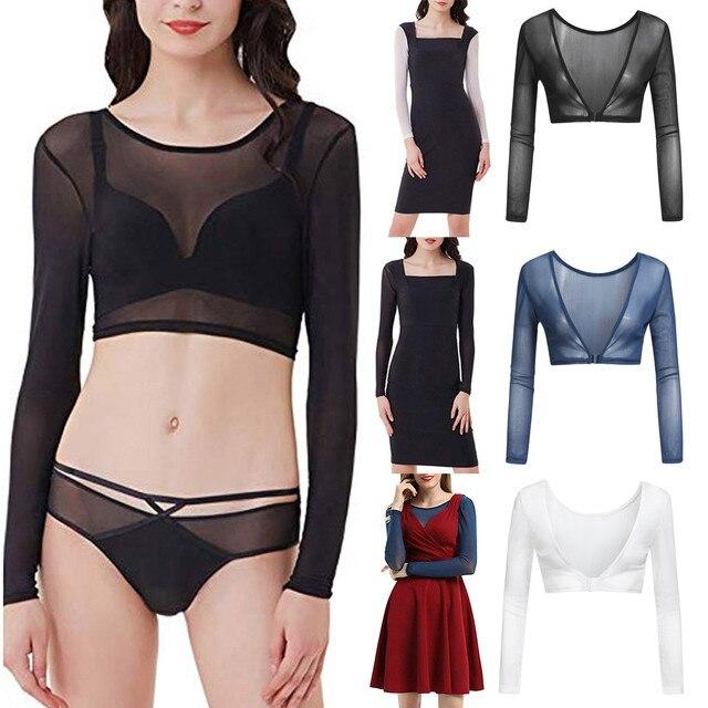 0ee39c3aa Amazing Arm Sleeve Shapewear Sexy Crop Tops Slimming Control Plus Size  Seamless Arm Shapewear Shaper Fashion Women Shapers A4