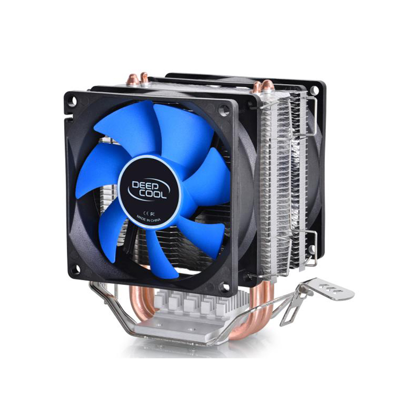 Deepcool 2 heatpipe, for Intel LGA775/1155/1156/1150, for AMD FM1/FM2/AM3+/AM2+, CPU radiator CPU Fan, ice mini Ultimate three cpu cooler fan 4 copper pipe cooling fan red led aluminum heatsink for intel lga775 1156 1155 amd am2 am2 am3 ed