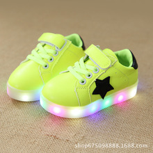 Autumn 2018 New Boys and Girls Colorful Shining Shoes LED Flash Small  Children s Shoes Anti- 7c4034a49f95