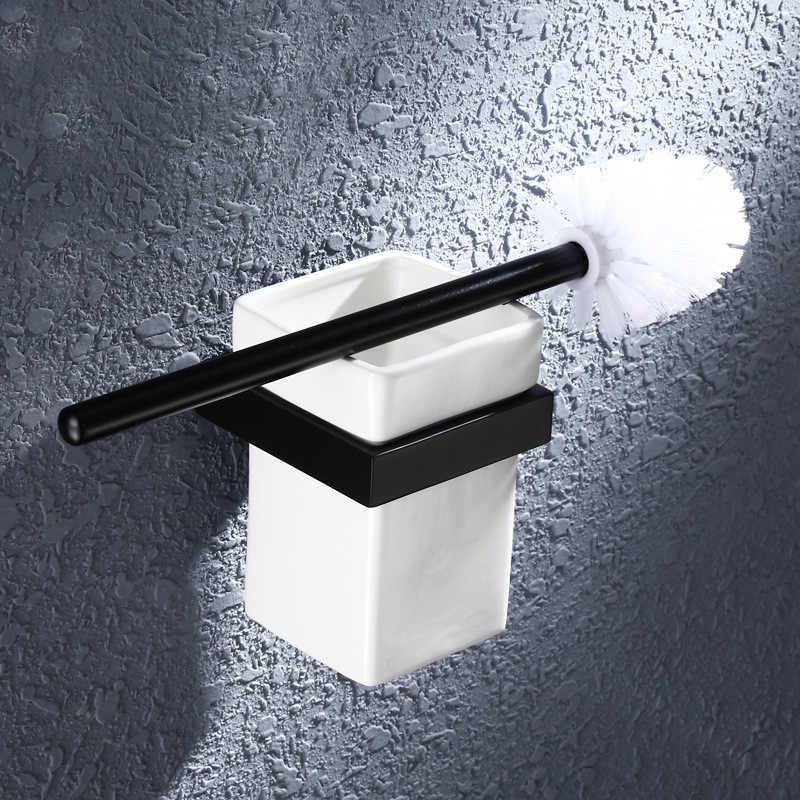 אמבטיה מדף מגבת מתלה Spary צבע מגבת טבעת סבון צלחת וו מברשת שיניים מחזיק מתכת שחור גימור אמבטיה אביזרי סטים