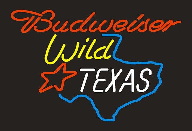 Budweiser Wild Texas Map Neon Light Sign