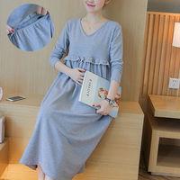 2017 Cotton Maternity Casual Dresses Clothes for Pregnant Women SizeM-2XL Summer Women Dress Pregnancy Clothing vestido longs